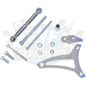 Billet Aluminum Ford Alternator Bracket 289 302 V belt Kit Mid Mount Sbf Chrome