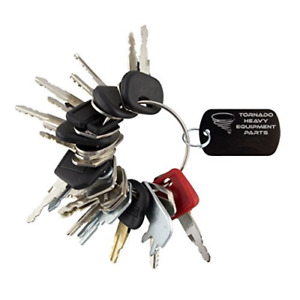 Heavy Equipment 24 Keys Set Construction Ignition Ring W Specific Machines Size
