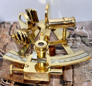 Marine Solid Brass 5 Nautical Sextant Maritime Ship Instrument By Masco