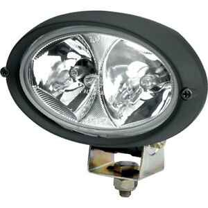 Hella H15161031 Oval 100 Halogen Work Lamp Clear Lens Black Housing Double Be