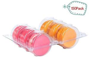 Plastic Clear Macaron Insert With Clip Closure Holds 6 Macarons Case Of 150 Sets
