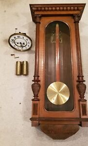 Antique 19th Century Wooden Wall Clock W F