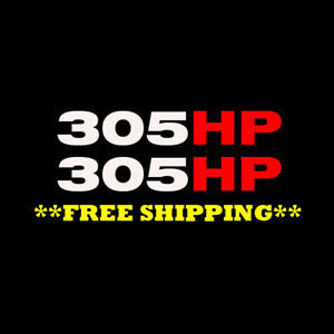 For Mustang Mach 1 305hp Vinyl Decal Sticker 2 Pack Free Ship 2003 2004 4 6l