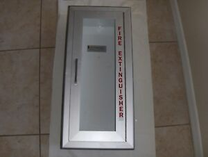 Fire Extinguisher Cabinet Plexi Glass Light Aluminum