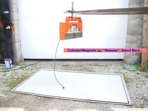 Eclipse Permanent Lifting Magnet Air Actuated Steel Sheet Plate Scrap Transfer