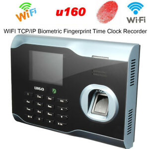 Biometric Fingerprint Attendance Time Clock Id Card Reader Wifi tcp ip usb