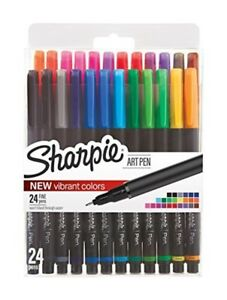 Sharpie Art Pens Fine Point Assorted Colors 24 Count 1983967