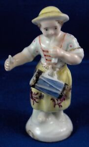 Antique 18thc Belgian French Porcelain Lady Figurine Figure Porzellan Figur
