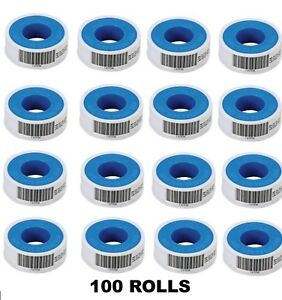 Teflon Tape 100 Rolls 1 2 W X 520 L White Ptfe Plumbing Pipe Thread Sealant