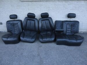 98 Jeep Grand Cherokee 5 9 Limited Factory Leather Front Rear Seats