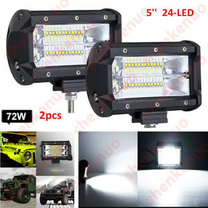 2x Bracket 5 2x Led Work Light Bar Flood Driving Lamp Jeep Truck Boat Offroad