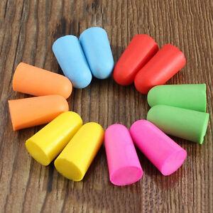 50pairs Soft Foam Ear Plugs Tapered Travel Sleep Noise Prevention Earplugs