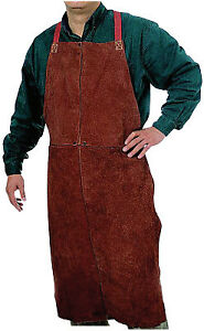 Leather Bib Apron 24 In X 48 In Golden Brown