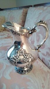Antique King Francis By Reed Barton Elegant Silver Plate 1658 Water Pitcher