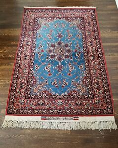 C 1940 Authentic Seirafian Magnificent Isfahan Silk And Wool Persian Rug