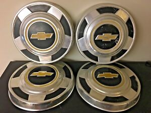 Vintage Vtg Set Of 4 Chevy Chevrolet Truck Dog Dish Hub Caps 10 5