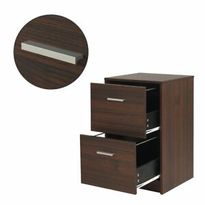Devaise 2 Drawer Wood File Cabinet Night Stand filing Cabinets office Furniture