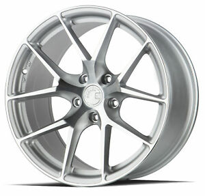 20x9 Aodhan Ls007 5x120 30 Silver Machined Face Wheels New Set