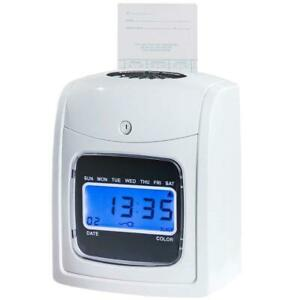 Electronic Recorder Time Punch Clock Lcd Display W Cards Holders Office Supplier