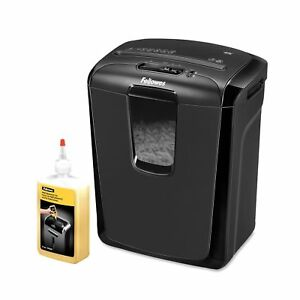 Fellowes Powershred 49c Cross cut Shredder And 12 Oz Shredder Oil Personal O