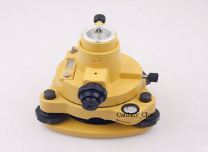 Yellow Tribrach Adapter W optical Plummet For Leica Type Prism Total Station