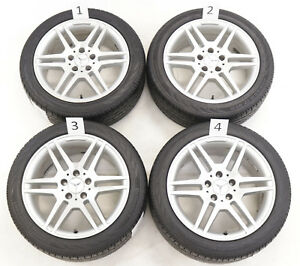 17 Mercedes Amg Oem Staggered 2008 14 C class W204 Wheels Rims