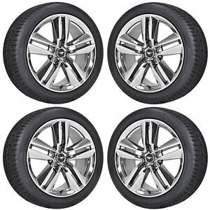 19 Ford Mustang Fastback Pvd Chrome Wheels Rims Tires Factory Oem Set 10034