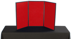 54 Double Sided Tabletop Hook N Loop Fabric Panel Display W Bag Blue And Red