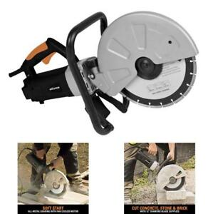 Evolution Electric Disc Cutter Cut Concrete stone brick Demolition Saw 1800w 12