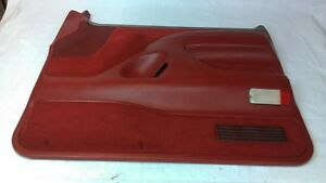 1992 1993 Ford F150 F250 F350 Bronco Red Passenger Door Panel Xlt Power 92 93