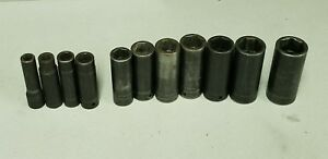 Snap On Tools 1 2 Drive Deep Impact Socket 11pc Set Sim140 Sim360