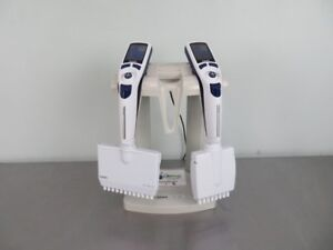 Rainin E4 Xls Electronic Multi Channel Pipette Lot W charging Stand And Warranty