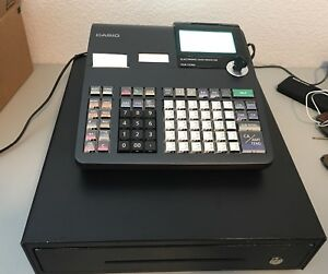 Casio Pcr t2300 Electronic Cash Register With Lcd Display W Keys Black