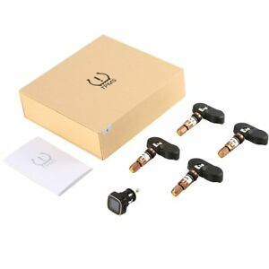 Tpms Tyre Pressure Monitoring System Cigarette Lighter With 4 External Sensors