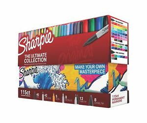 Sharpie 1983255 Permanent Markers Ultimate Collection Fine And Ultra Fine Po