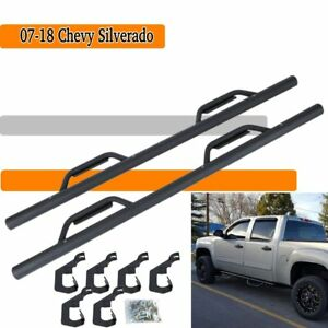 07 18 Chevy Silverado Gmc Sierra Crew Cab Blk Nerf Bars Running Boards Side Step