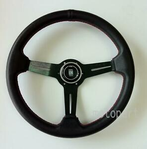 Nardi Competition Steering Wheel 350mm Black Leather Black Classic Horn