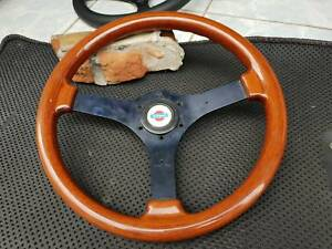Rare Sport Line Classic Wood Steering Wheel With Nissan Horn Button Silvia R32
