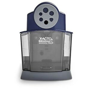 Electric Pencil Sharpener Automatic Rounded Point School Supplies Classroom Blue