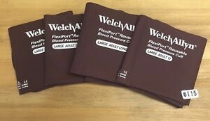 Welch Allyn Bp Cuff Flexi port 32 43cm Adult 12 Lot Of 4 6115