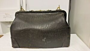 Vintage Leather Satchel Doctors Bag As Shown