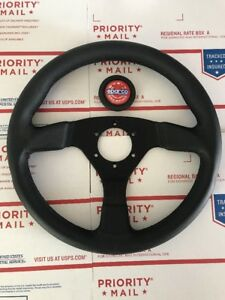 Used Sparco R383 Champion 330mm Steering Wheel Black Stitched Perforated Leather