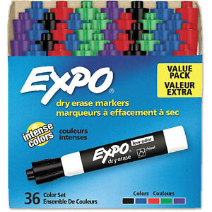 Expo 174 Low Odor Dry Erase Marker Chisel Tip Assorted 36 box Lot Of 1