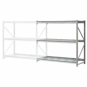 Extra High Capacity Bulk Rack With Wire Decking Add on Unit 60 w X 36 d X