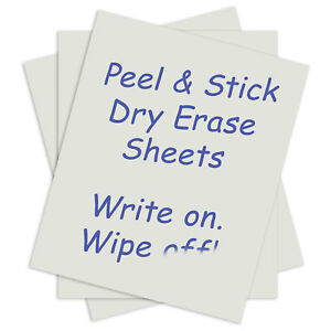 C line Products Peel And Stick Dry Erase Sheets White 17 X 24 Lot Of 1