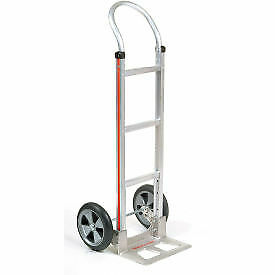 Magliner Aluminum Hand Truck With Curved Handle Balloon Wheels Lot Of 1