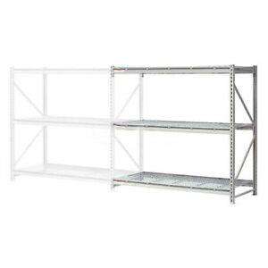 Extra High Capacity Bulk Rack With Wire Decking Add on Unit 96 w X 48 d X