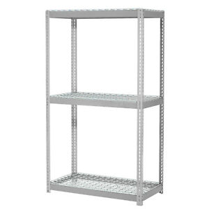 Expandable Starter Rack With 3 Levels Wire Deck 1500lb Cap Per Deck 48 w X