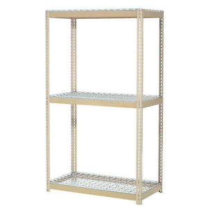 Expandable Starter Rack With 3 Levels Wire Deck 1500lb Cap Per Level 48 w X