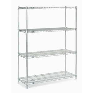 Chrome Wire Shelving 42 w X 14 d X 63 h Lot Of 1